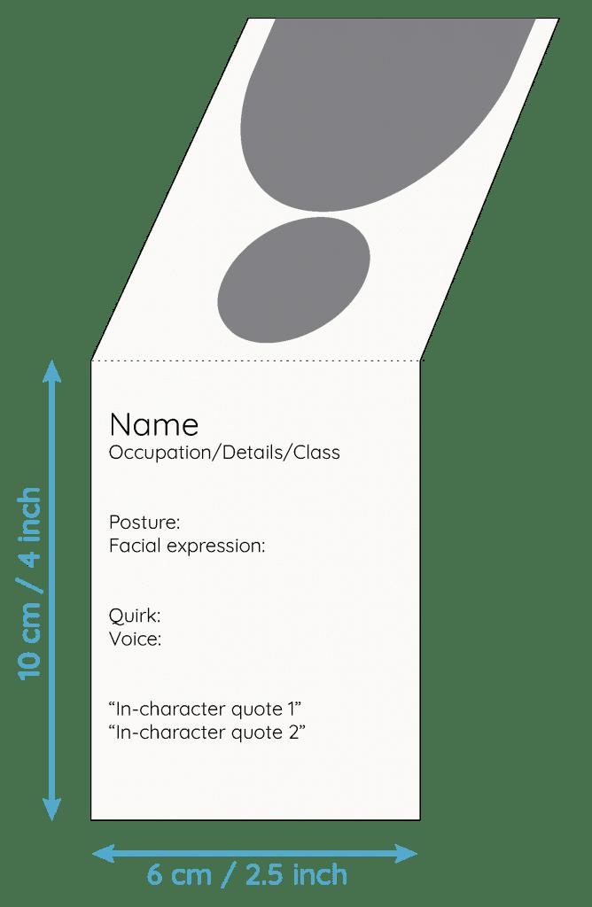 anatomy of a npc portrait handout