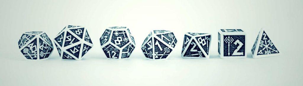 pen paper rpg dice set